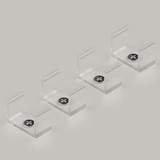Set of 4 Mounting Brackets For Our Standard Aluminium Channel Profile