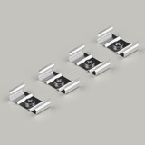 Set of 4 Mounting Brackets for Bendable Aluminium Extrusion Profile 18x5.7mm