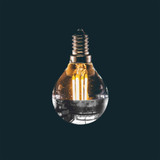 Silver Top Special 3.5w G45 Golf Ball LED Filament Bulb (E14)