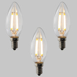 Candle C35 LED Filament Bulb - E14 - 400lm - 2700K Very Warm White - Dimmable - Pack of 3