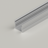 Extra Deep Aluminium Channel 17.1x14.5mm, Silver, 2 Metre Length