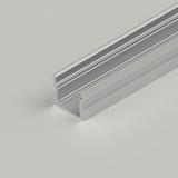 Extra Deep Aluminium Channel 17.1x14.5mm, Silver, 3 Metre Length