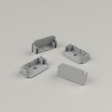 Set of 4 Plaster-In Standard Recessed Aluminium Profile