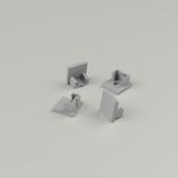Set of 4 End Caps for Plaster-In Slim Recessed Aluminium Profile