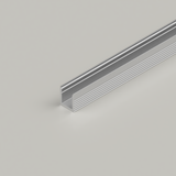 Micro Surface Mounted 7.8x9mm LED Aluminium Channel for 5mm Tape, Silver, 2 Metre Length