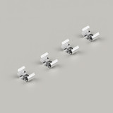 Set of 4 Mounting Brackets for Micro Surface Mounted 7.8x9mm Aluminium Profile