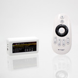 Handheld 4 Zone Remote Control and Receiver, 12/24V, For Single Colour LED Tape