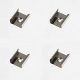Set of 4 Mounting Brackets for Slim Tall Rectangular Tall LED Aluminium Profile