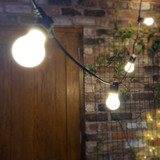 Weatherproof LED Festoon Lighting | 10 Metres Long, 20 Bulb, 500mm Spacing in Black