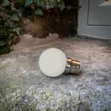 Weatherproof Festoon Lamps | Golf Ball 1W In Warm White (B22/BC)