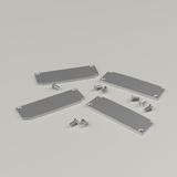 Set of 4 End Caps for Extra Wide Plaster-in Profile 98mm