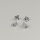 Set of 4 End Caps for Tile-in Aluminium Profile
