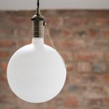 Irlam Large LED Globe Bulb, Eggshell Glass, Dimmable