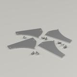 Set of 4 Endcaps for Coving Plaster-in Aluminium Profile