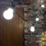 7.5 Metre, 10 GLS Lamp Festoon String, 750mm Spacing with 10 bulbs, B22, Cool White