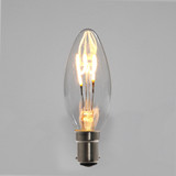 Candle C35 LED Filament Bulb - B15 - 400lm - 2700K - Clear Finish - Dimmable