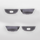 Set of 4 End Caps for Bendable Aluminium Extrusion Profile 18x5.7mm, Dark Grey