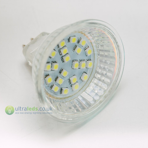 21 x 3528 Led 120' Wide Angle Warm White MR16/GU5.3 12V AC/DC