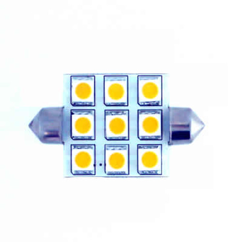 (264) 42mm 9 WA SMT Leds Festoon 1W=16W output Warm White (Default)