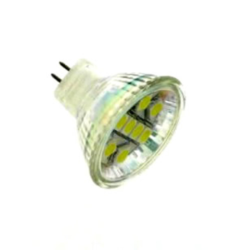 Ultra Bright MR11 12v AC/DC 8 LED Cool White