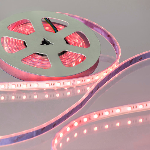 12V Pro Bright LED Tape, RGB Colour Changing, 14.4w p/m, IP65 (5m Reel)