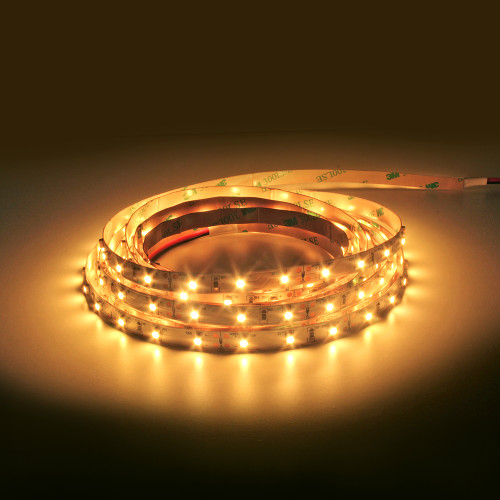 300 Lumen 12v 4.8W 3000K Warm White 60 x 3528 Per Metre Led Tape IP20 (5 Metre reel)