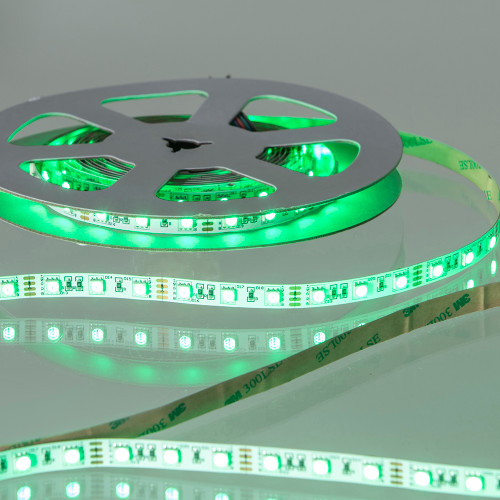 12V Tagra® LED Tape, RGB + Warm White 3000K Colour Changing, 18w p/m, IP20 (5m Reel)