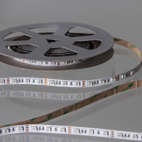12V Tagra® LED Tape, RGB + Warm White 3000K Colour Changing, 18w p/m, IP20 (5m Reel)