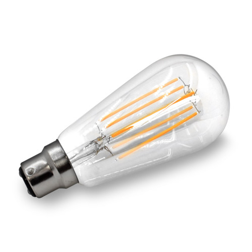 8w Vintage Squirrel Cage LED Filament Bulb (BC / B22)