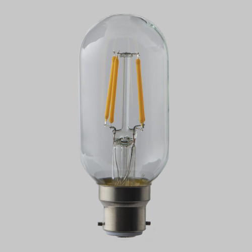 4W Dimmable T45 LED Filament Tube Bulb (B22)