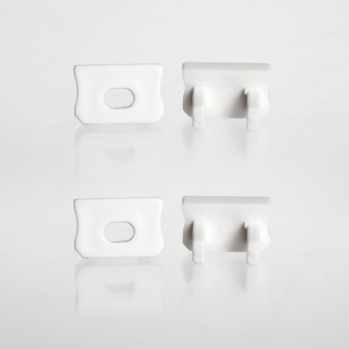 Set of 4 End Caps for Mini Aluminium Extrusion Profile, White