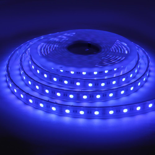 12V Pro Bright LED Tape, RGB Colour Changing, 14.4w p/m, IP68 (5m Reel)