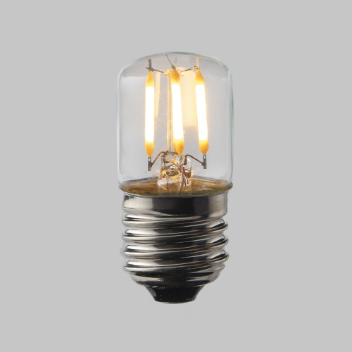 Pygmy T28 LED Crown Filament Bulb Lamp - (E27) Edison Screw 2w - Dimmable