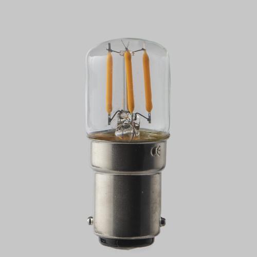 Pygmy T28 LED Crown Filament Bulb Lamp - (B22) Bayonet Cap 2w - Dimmable