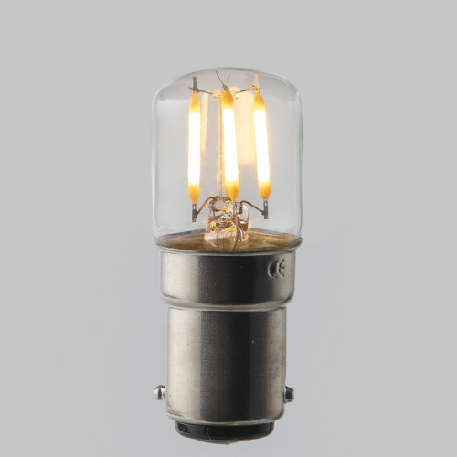 Pygmy T28 LED Crown Filament Bulb Lamp - (B22) Bayonet Cap 2w - Dimmable