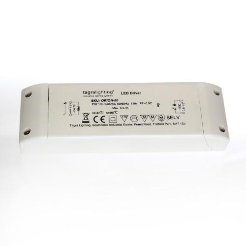 24V Premium Tagra® Professional Terminal LED Driver, 80W 3.3A