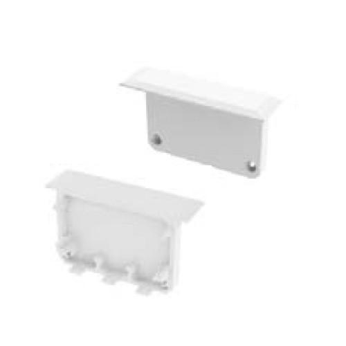 End Caps for Apis With Trim Aluminium Extrusion Profile - White (Pair)