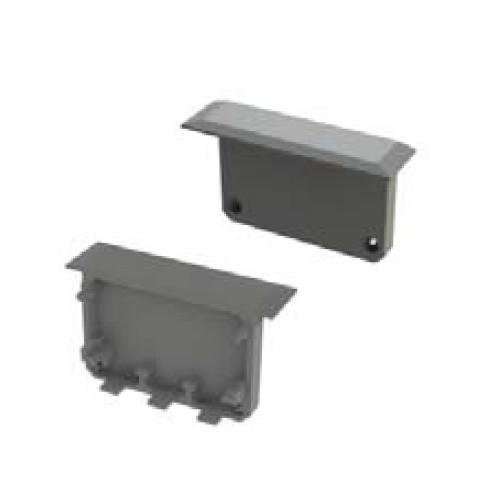 End Caps for Apis With Trim Aluminium Extrusion Profile - White