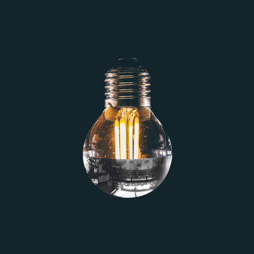 Silver Top Special 3.5w G45 Golf Ball LED Filament Bulb (E27)