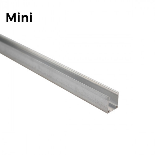 LED Neon Flex Mini Aluminium Track Mounting Bracket - 1 Metre Length