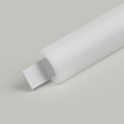 Small Corner Water Resistant IP65 45 Degree Channel, Opal, 2 Metre Length