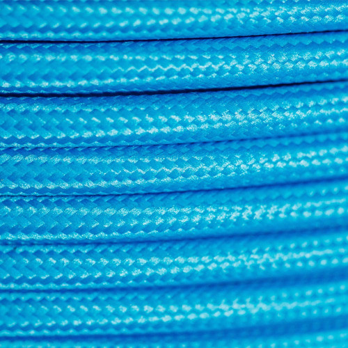 Braided Fabric Flex Cable Blue