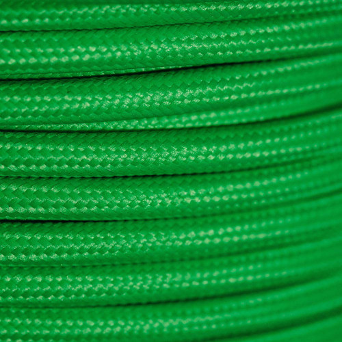 Braided Fabric Flex Cable Neon Green