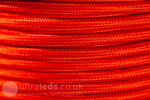 Braided Fabric Flex Cable Red