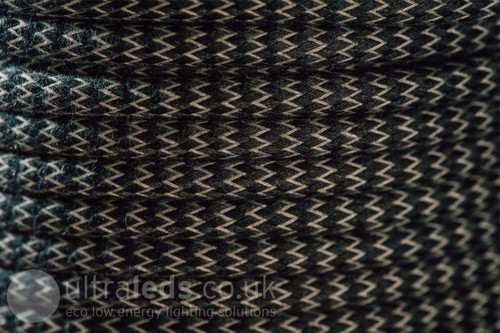 Braided Fabric Flex Cable Zigzag