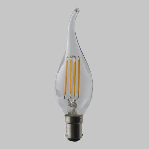 4w C35 Candle Flame Tip LED Filament Bulb