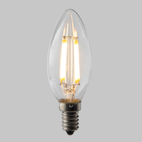 Candle C35 LED Filament Bulb - E14 - 400lm - 2700K Very Warm White - Dimmable - Pack of 5