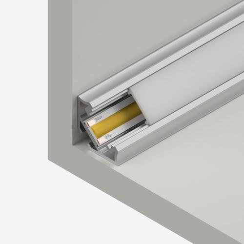Straight Corner Channel 113x113mm, Silver, 2 Metre Length