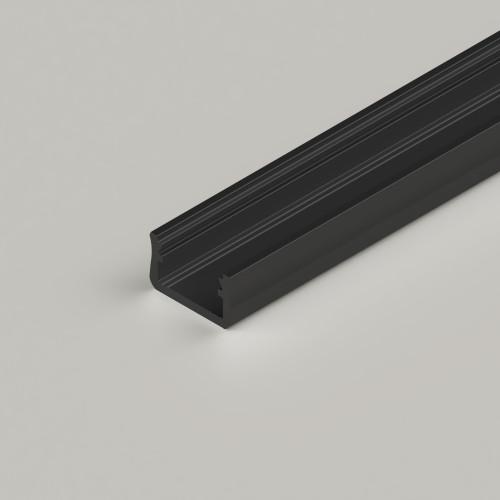 Standard V2 Channel 16x9.3mm, Black, 2 Metre Length