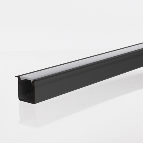 Extra Deep V2 With Trim Profile Channel, Black, 2 Metre Length